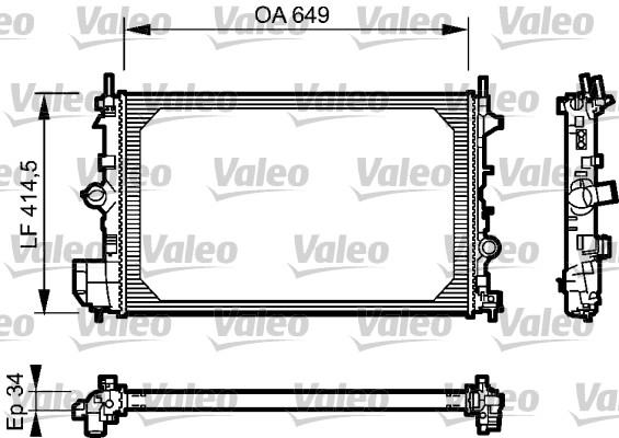 Radiateur, refroidissement du moteur - VALEO - 734412