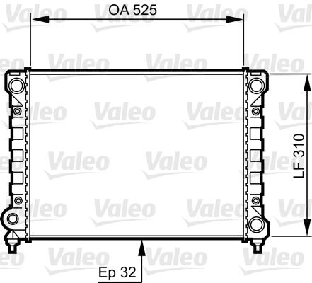 Radiateur, refroidissement du moteur - VALEO - 734415