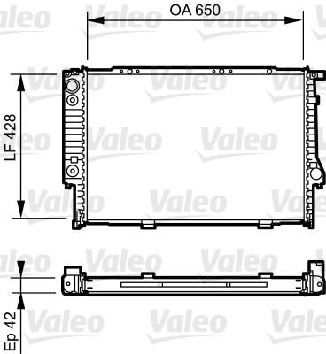 Radiateur, refroidissement du moteur - VALEO - 734421
