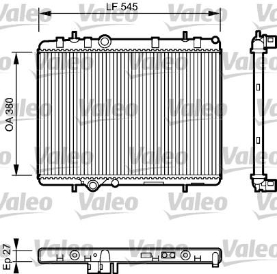 Radiateur, refroidissement du moteur - VALEO - 734423