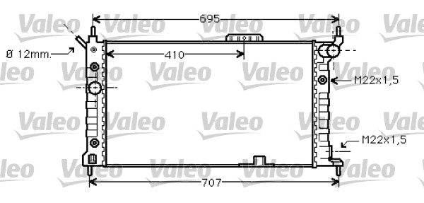 Radiateur, refroidissement du moteur - VALEO - 734429