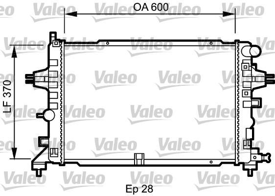 Radiateur, refroidissement du moteur - VALEO - 734432