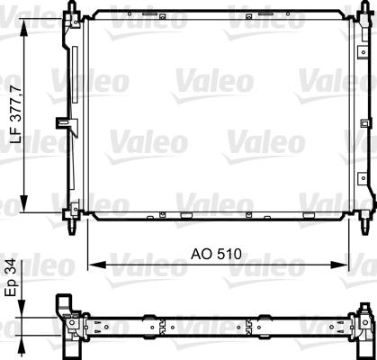 Radiateur, refroidissement du moteur - VALEO - 734436
