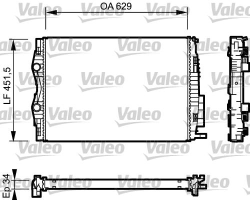 Radiateur, refroidissement du moteur - VALEO - 734438