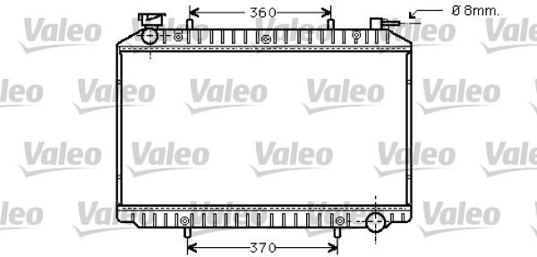 Radiateur, refroidissement du moteur - VALEO - 734446