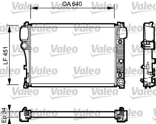 Radiateur, refroidissement du moteur - VALEO - 734447
