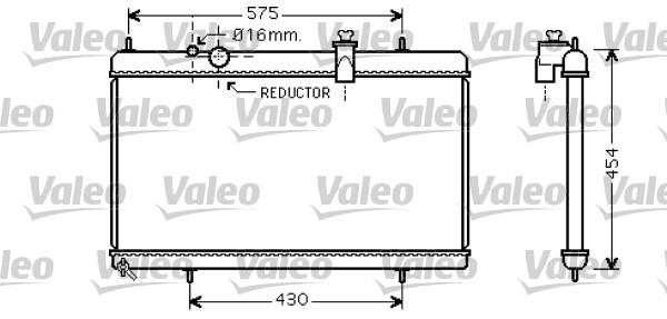 Radiateur, refroidissement du moteur - VALEO - 734452