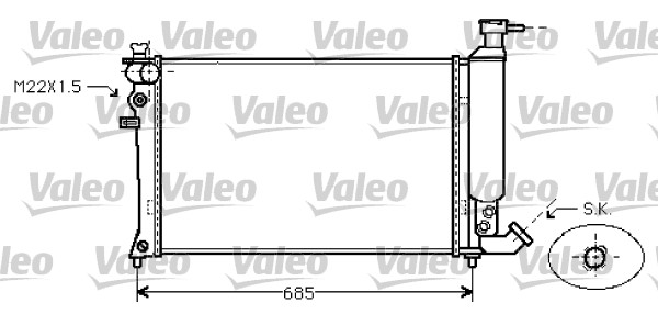 Radiateur, refroidissement du moteur - VALEO - 734454