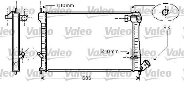 Radiateur, refroidissement du moteur - VALEO - 734455