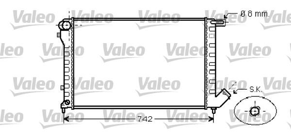 Radiateur, refroidissement du moteur - VALEO - 734456