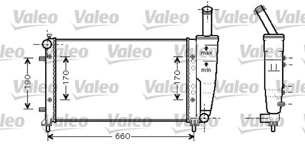 Radiateur, refroidissement du moteur - VALEO - 734457