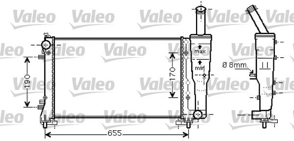 Radiateur, refroidissement du moteur - VALEO - 734458