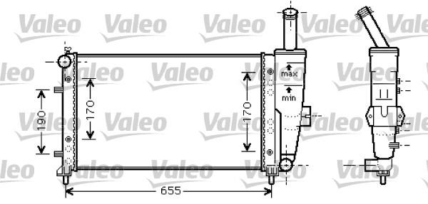 Radiateur, refroidissement du moteur - VALEO - 734459