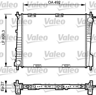 Radiateur, refroidissement du moteur - VALEO - 734461