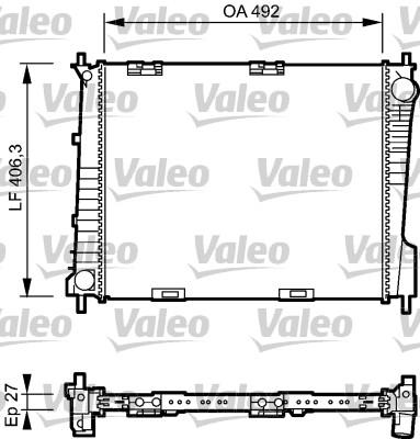 Radiateur, refroidissement du moteur - VALEO - 734462