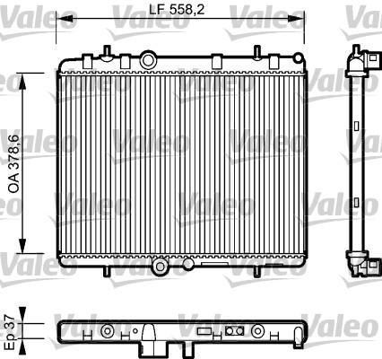 Radiateur, refroidissement du moteur - VALEO - 734463