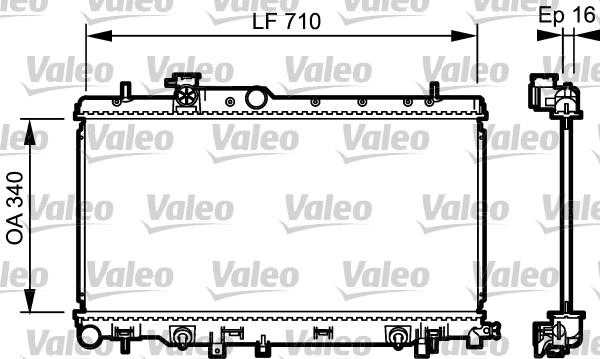 Radiateur, refroidissement du moteur - VALEO - 734465