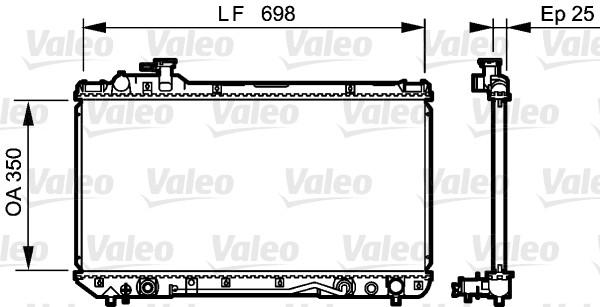 Radiateur, refroidissement du moteur - VALEO - 734466