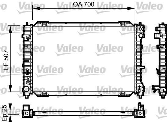 Radiateur, refroidissement du moteur - VALEO - 734468