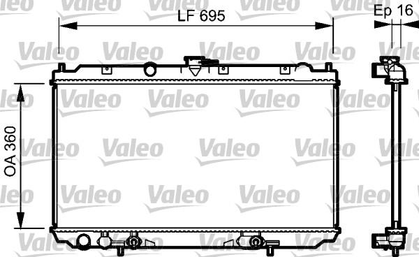 Radiateur, refroidissement du moteur - VALEO - 734473