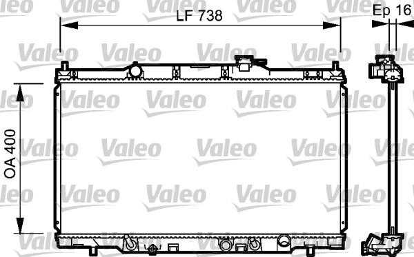 Radiateur, refroidissement du moteur - VALEO - 734477