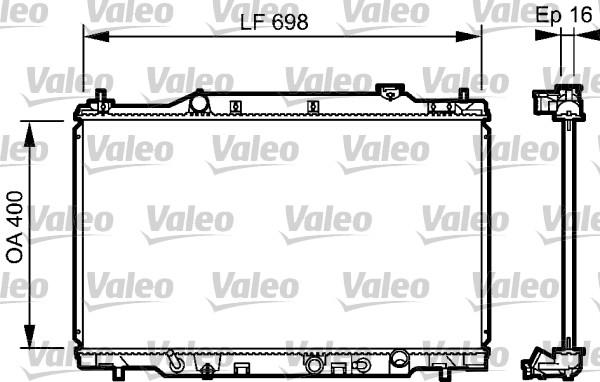 Radiateur, refroidissement du moteur - VALEO - 734478
