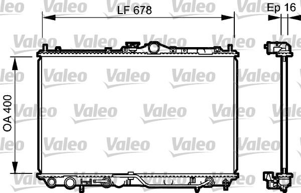 Radiateur, refroidissement du moteur - VALEO - 734480