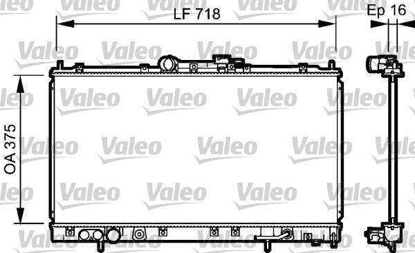 Radiateur, refroidissement du moteur - VALEO - 734481