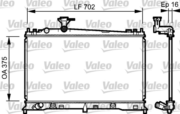 Radiateur, refroidissement du moteur - VALEO - 734483