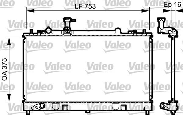 Radiateur, refroidissement du moteur - VALEO - 734484