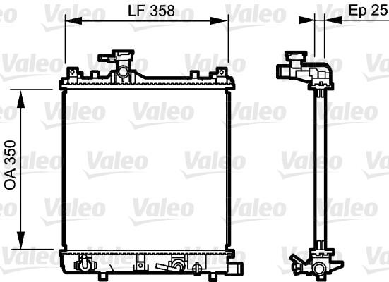 Radiateur, refroidissement du moteur - VALEO - 734486