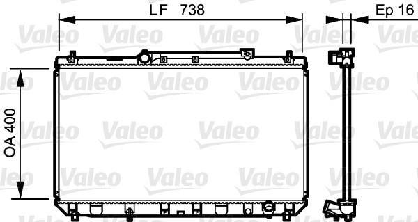 Radiateur, refroidissement du moteur - VALEO - 734488