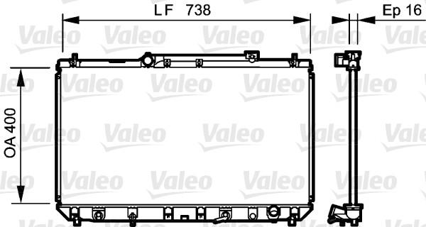 Radiateur, refroidissement du moteur - VALEO - 734489