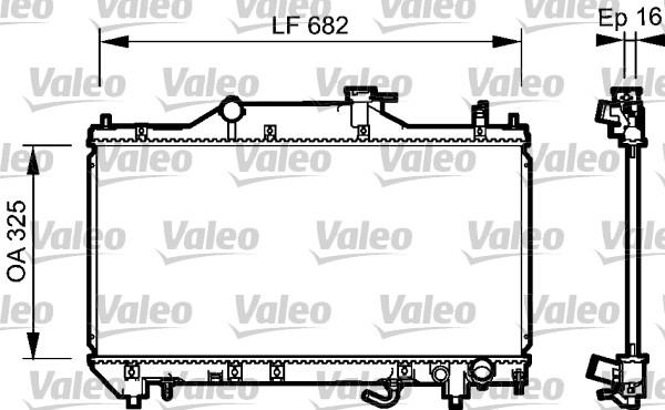 Radiateur, refroidissement du moteur - VALEO - 734490
