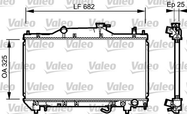 Radiateur, refroidissement du moteur - VALEO - 734491