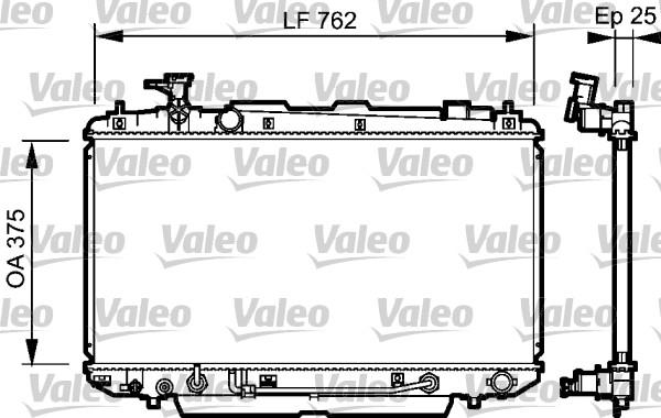 Radiateur, refroidissement du moteur - VALEO - 734493