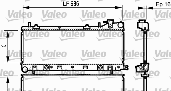 Radiateur, refroidissement du moteur - VALEO - 734577