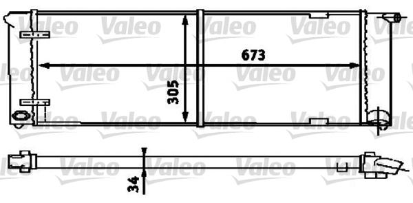 Radiateur, refroidissement du moteur - VALEO - 734586