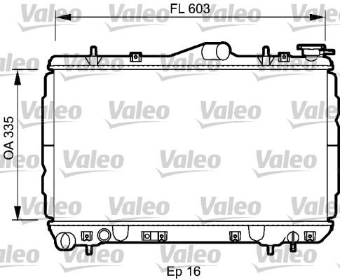 Radiateur, refroidissement du moteur - VALEO - 734587