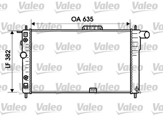 Radiateur, refroidissement du moteur - VALEO - 734596
