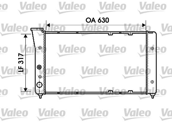 Radiateur, refroidissement du moteur - VALEO - 734606