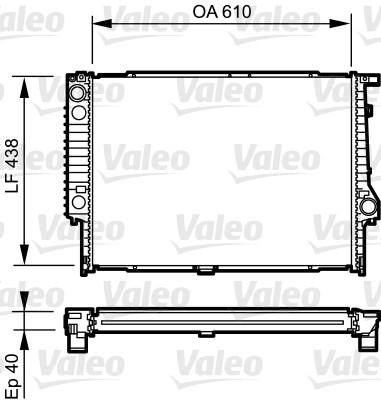 Radiateur, refroidissement du moteur - VALEO - 734615