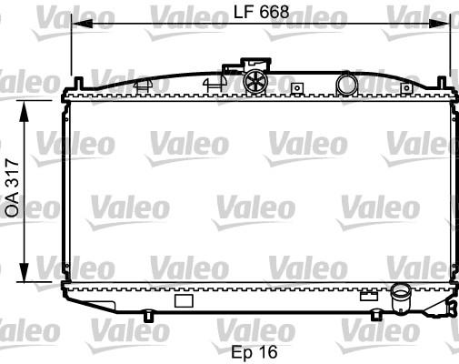 Radiateur, refroidissement du moteur - VALEO - 734623