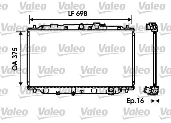Radiateur, refroidissement du moteur - VALEO - 734624