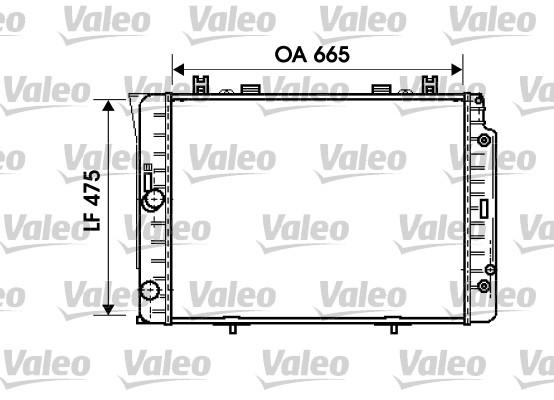 Radiateur, refroidissement du moteur - VALEO - 734631