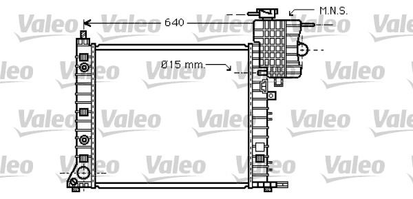Radiateur, refroidissement du moteur - VALEO - 734668