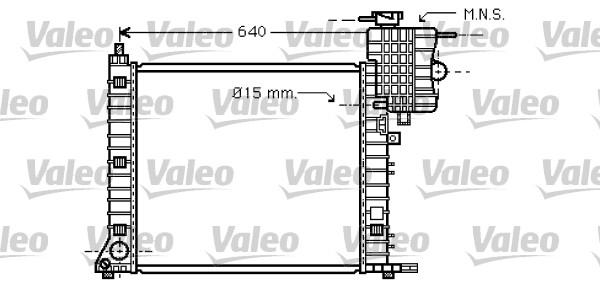Radiateur, refroidissement du moteur - VALEO - 734669