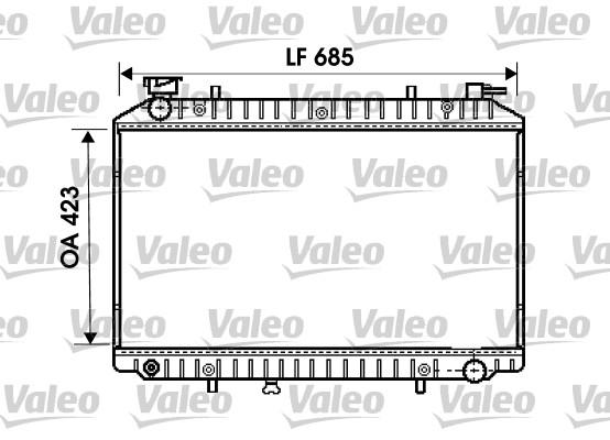 Radiateur, refroidissement du moteur - VALEO - 734671