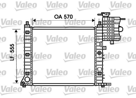 Radiateur, refroidissement du moteur - VALEO - 734674