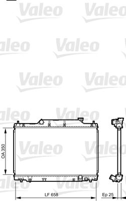 Radiateur, refroidissement du moteur - VALEO - 734702